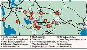 glasriket karta Fynda och förundras i Glasriket glasriket karta