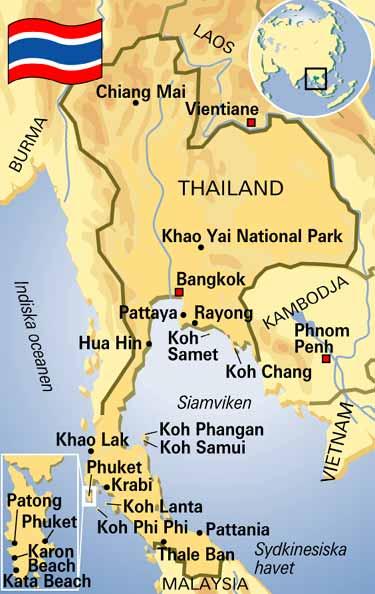 Karta Indien Thailand.Aftonbladet Resa Karta Thailand